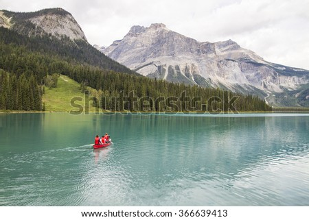 Canoeing on a Canadian Lake