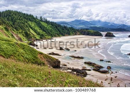 Canon Beach Oregon - stock photo
