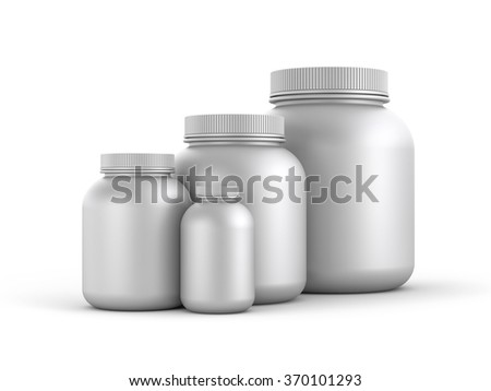 Cans of protein or gainer powder