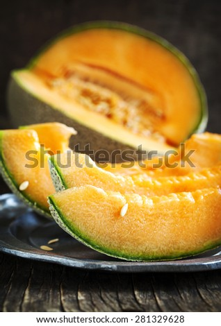 Cantaloupe melon  - stock photo