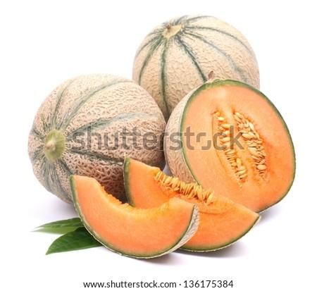 Cantaloupe melons - stock photo