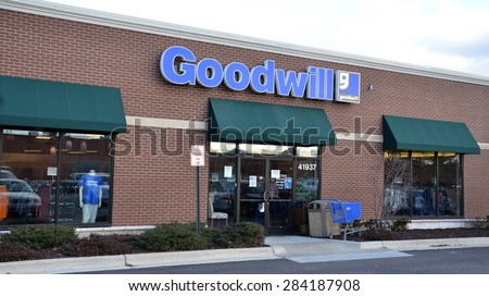 CANTON, MI - DECEMBER 30:  Goodwill, whose Canton location is shown on December 30, 2014, has 165 stores.