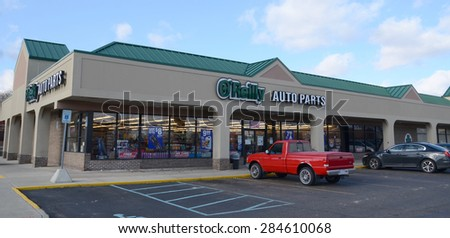 CANTON, MI - DECEMBER 31:  O'Reilly Auto Parts, whose Canton location is shown on December 31, 2014, has over 4,100 stores.