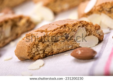 Cantuccini ,traditional almond biscuits, Prato, Tuscany, Italy, Europ - stock photo
