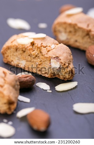 Cantuccini ,traditional almond biscuits, Prato, Tuscany, Italy, Europ