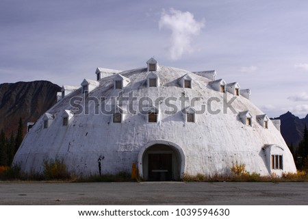 Cantwell, Alaska   September 5 2009: The Famous Abandoned Igloo City Hotel  Stands In