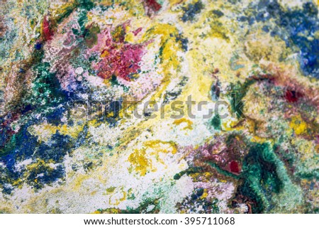 Canvas and oil paints. Abstract background with liquid paint. Marble texture. Grunge background.