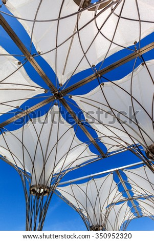 canvas canopy from the sun - stock photo