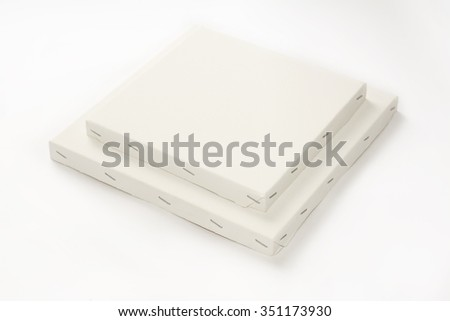 Canvas on wooden frame, stretcher bar frames  isolated on white