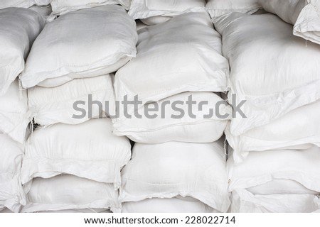 Canvas sack - stock photo