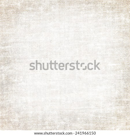 canvas texture background and vignette - stock photo