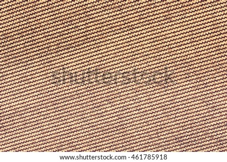 Canvas texture brown background closeup
