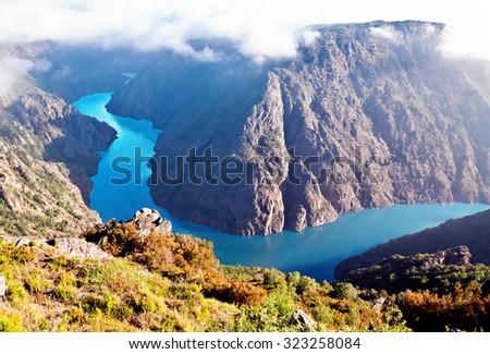 Canyon de Rio Sil, Galicia, Spain - stock photo