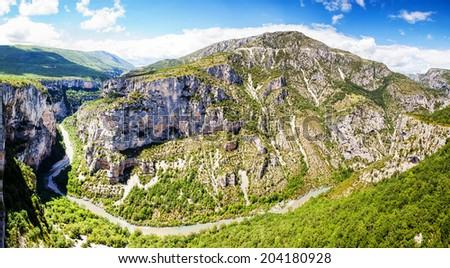Canyon de Verdon, the Verdon Gorge,  France, Provence - stock photo