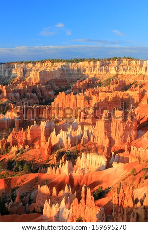 Canyon formations in Bryce Canyon National Park, Utah, USA. - stock photo