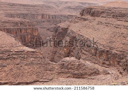 Canyon in Atlas Mountains, Morocco  - stock photo