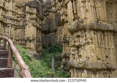 canyon in Maewang national park of Chiangmai, Thailand - stock photo