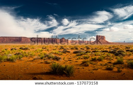 Canyon land at Utah - stock photo
