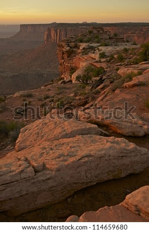 Canyonland Sunset Scenery - Utah State, USA. Canyonlands National Park. Utah Photography Collection.