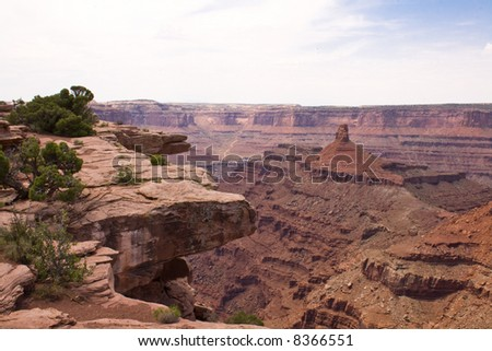 Canyonlands. Glance from above. - stock photo