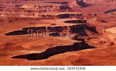 Canyonlands National Park Green River overlook Utah USA - stock photo