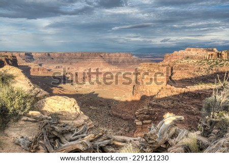 Canyonlands National Park is a U.S. National Park located in southeastern Utah near the town of Moab - stock photo