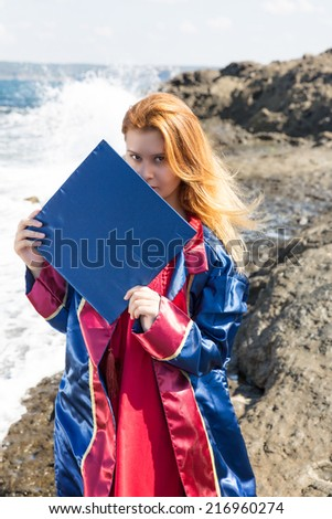 Cap and gown - stock photo