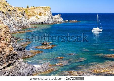 Cap de Peyrefite, Languedoc-Roussillon, France - stock photo