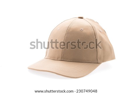 Cap isolated on white