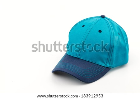 Cap isolated white background
