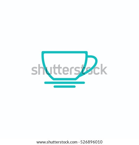 cap of drink outline, thin, flat, digital icon for web and mobile