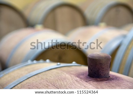 Cap on the wine barrel