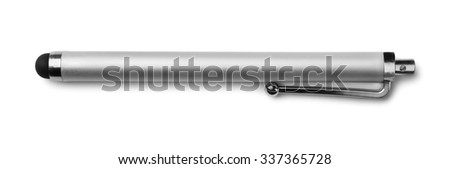 Capacitive touchscreen stylus isolated on white - stock photo