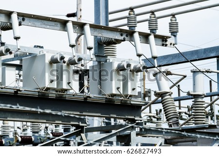 Capacitor bank stock images royalty free images vectors for Distribution substation