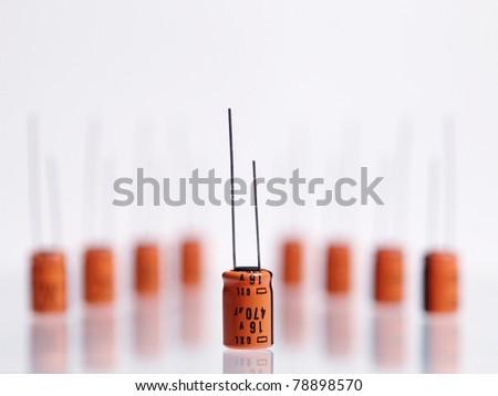 capacitors - stock photo