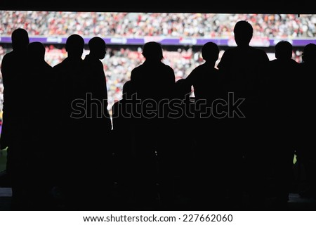 Capacity Crowd at a sporting event - stock photo