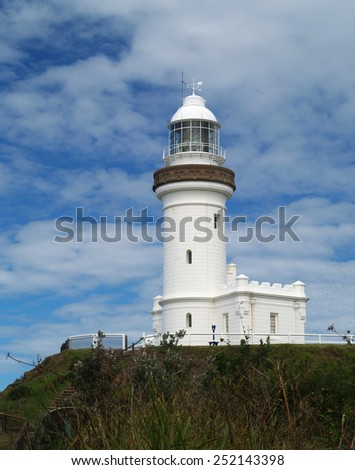 Cape Byron lighthouse, Byron Bay, Australia - stock photo