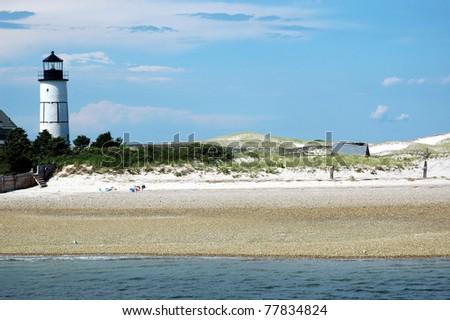Cape Cod Beach Scene - stock photo