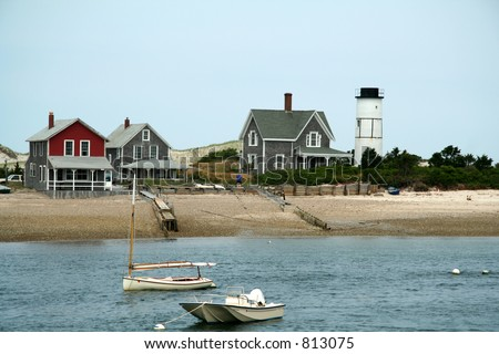 Cape Cod Boats - stock photo