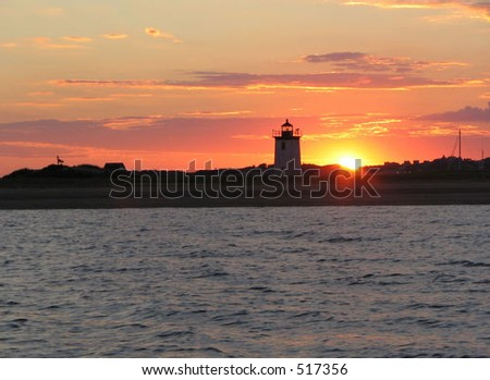 Cape Cod lighthouse at sunset