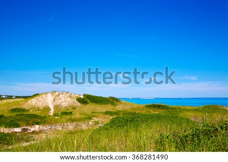 Cape Cod Sandy Neck Beach in Barnstable Massachusetts USA - stock photo