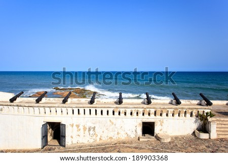 Cape Cost Castle, one of most important  historic place of Ghana - stock photo