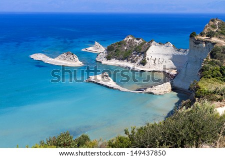Cape Drastis at Corfu island in Greece - stock photo