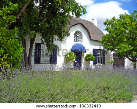 Cape Dutch cottage in the winelands of South Africa