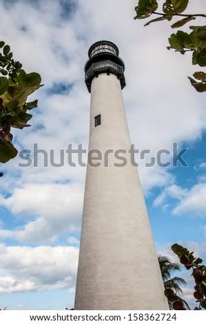 Cape Florida Lighthouse / Cape Florida Lighthouse, Key Biscayne, Miami, Florida, USA - stock photo