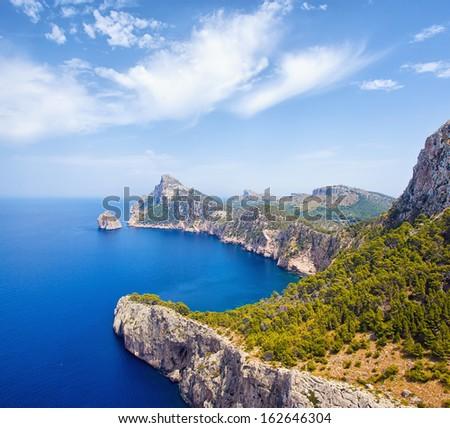 Cape Formentor in Mallorca, Balearic island, Spain - stock photo