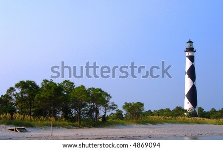cape lookout light house on the outer banks, North Carolina - stock photo