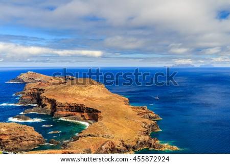 Cape Ponta de Sao Lourenco, the most eastern point of Madeira island, Portugal - stock photo