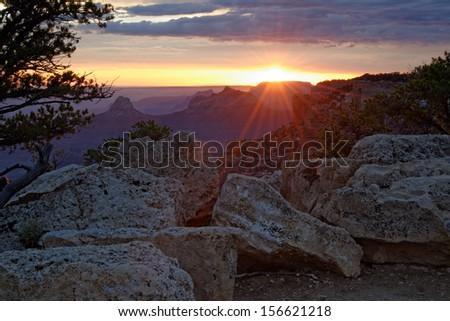 Cape Royal Sunset - stock photo