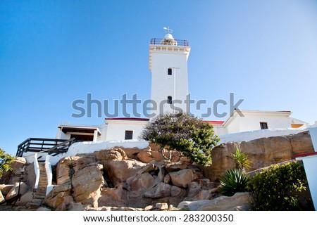 Cape St Blaize lighthouse, Garden Route, South Africa  - stock photo
